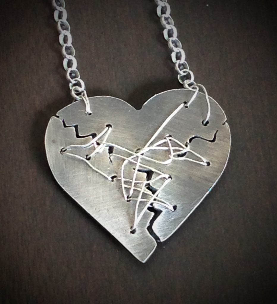 Resilience Mended Heart Necklace